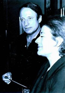 Annie Girardot and Francois Glorieux